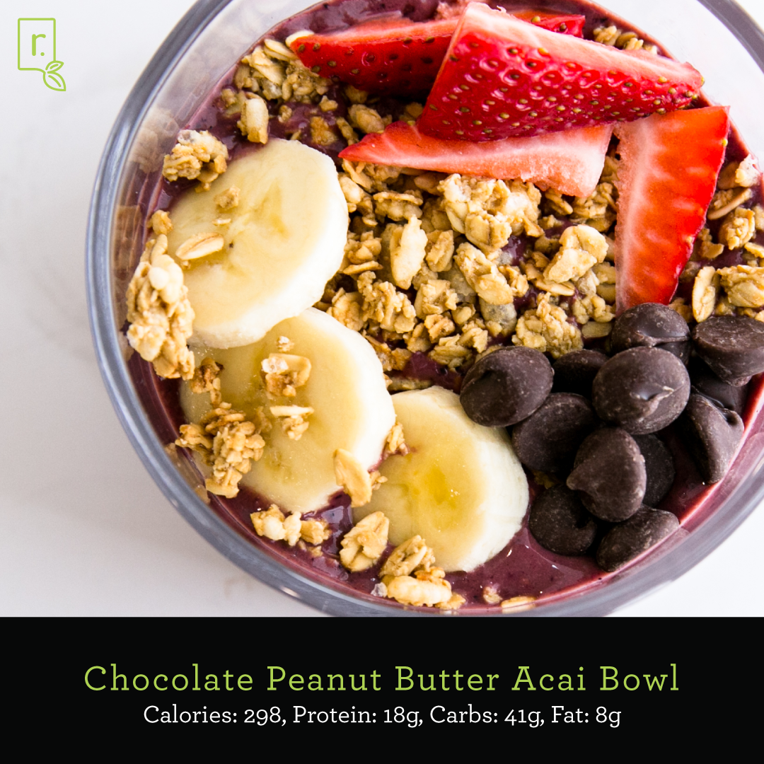 chocolate pb açaí bowl
