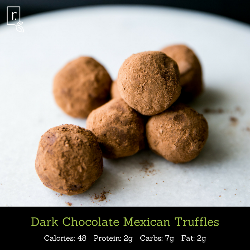dark chocolate mexican truffles idealraw