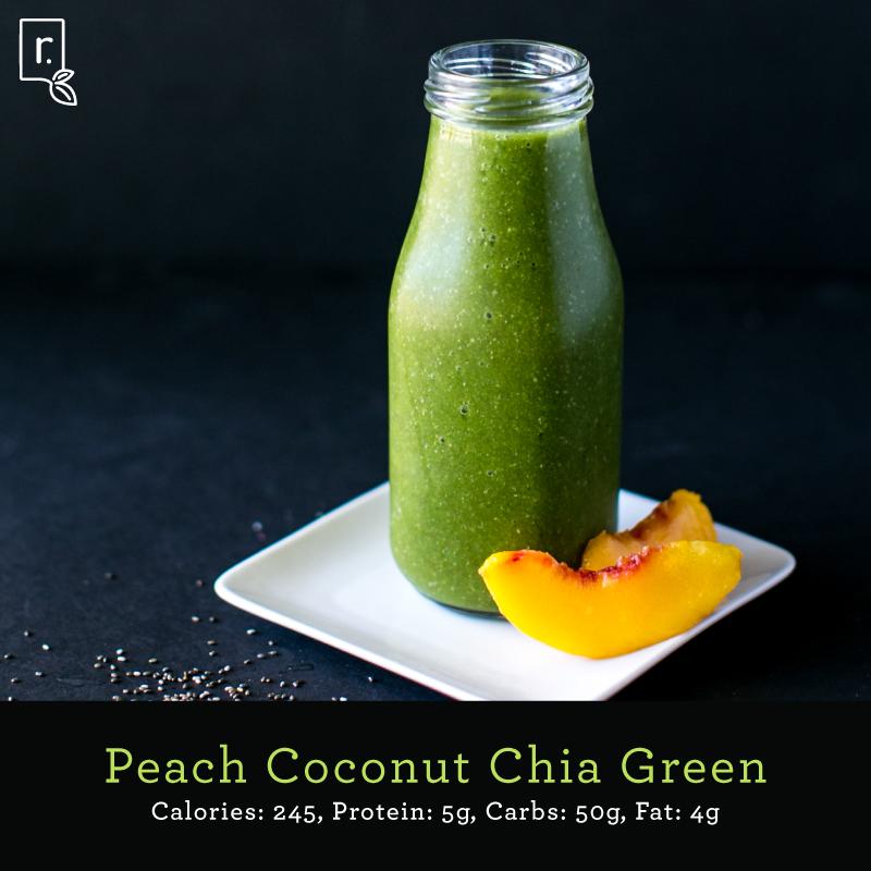 peach-coconut-green smoothie