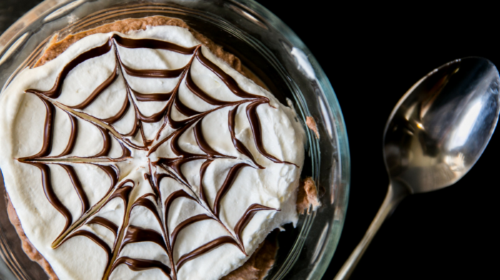 Spider Web Chocolate Mousse