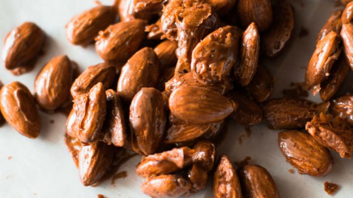 Mocha Glazed Almonds