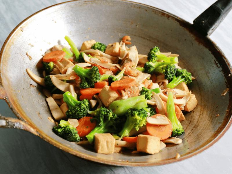 Tofu and veggies