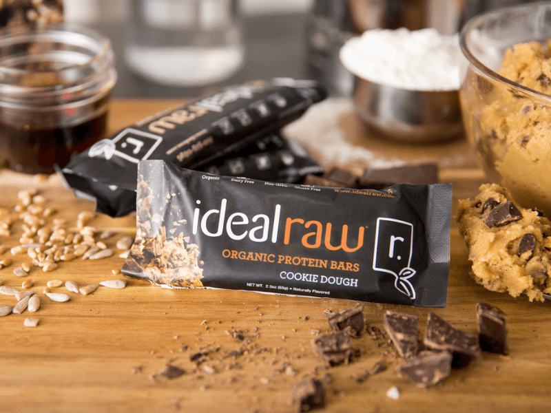 Some IdealRaw plant-based protein bars