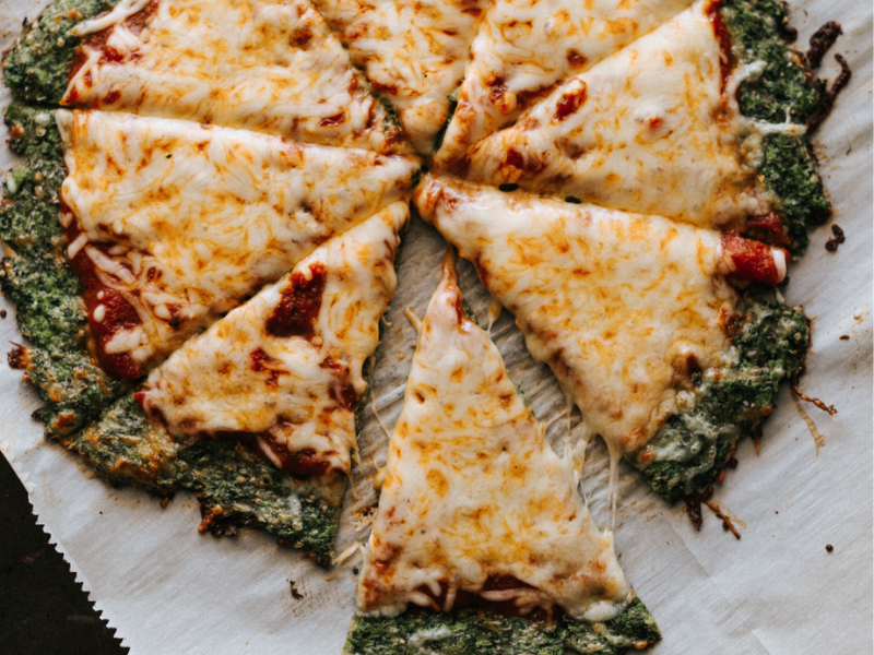 Healthy broccoli pizza crust