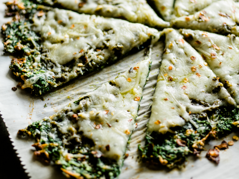 Healthy kale pizza crust