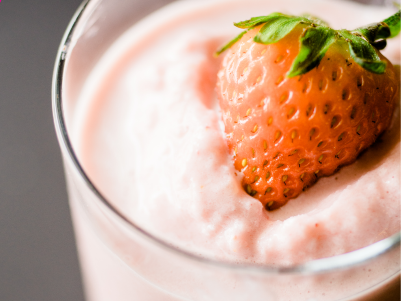 A healthy Pineapple Strawberry Paradise Smoothie