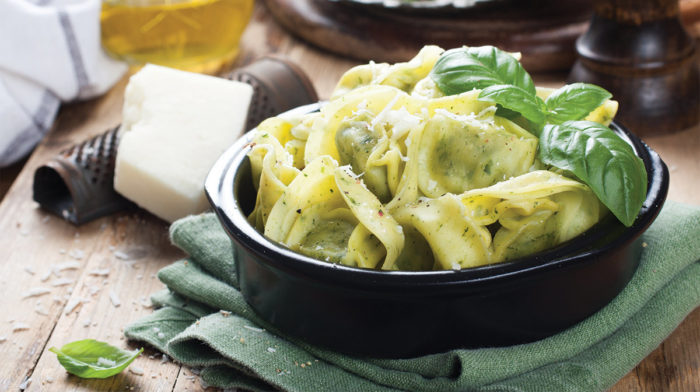 Tortellini Ricotta e Spinaci alla Salvia e Limone