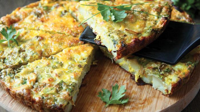 Omelette Vegetariana con Patate