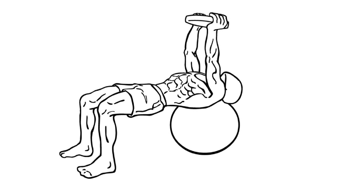 crunch con peso e fitball