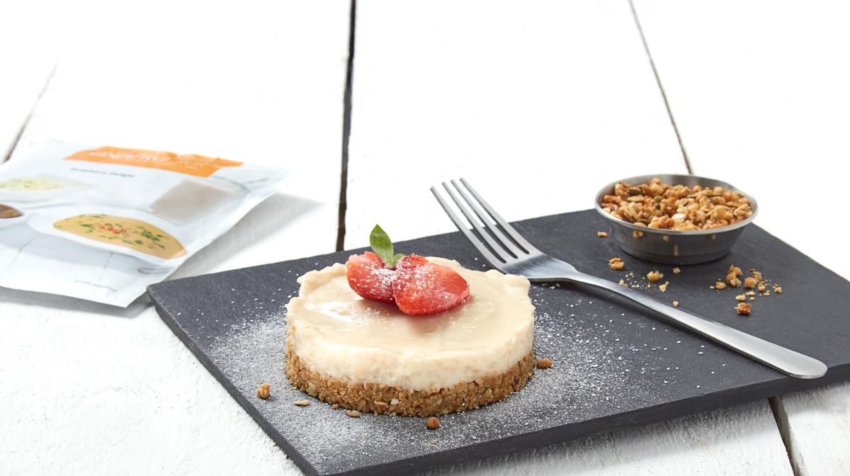 Cheesecake Proteica de Fresa