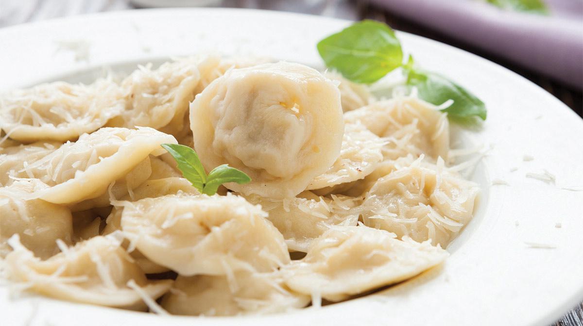 Tortellini con Ricotta y Espinaca al Limón