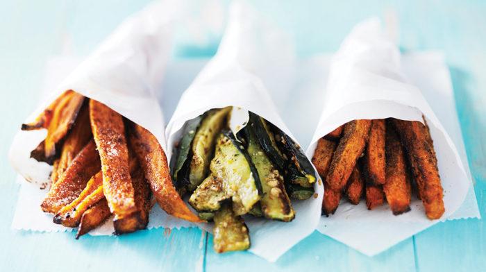 Patatas Dulces, Zanahoria y Calabacín al Horno
