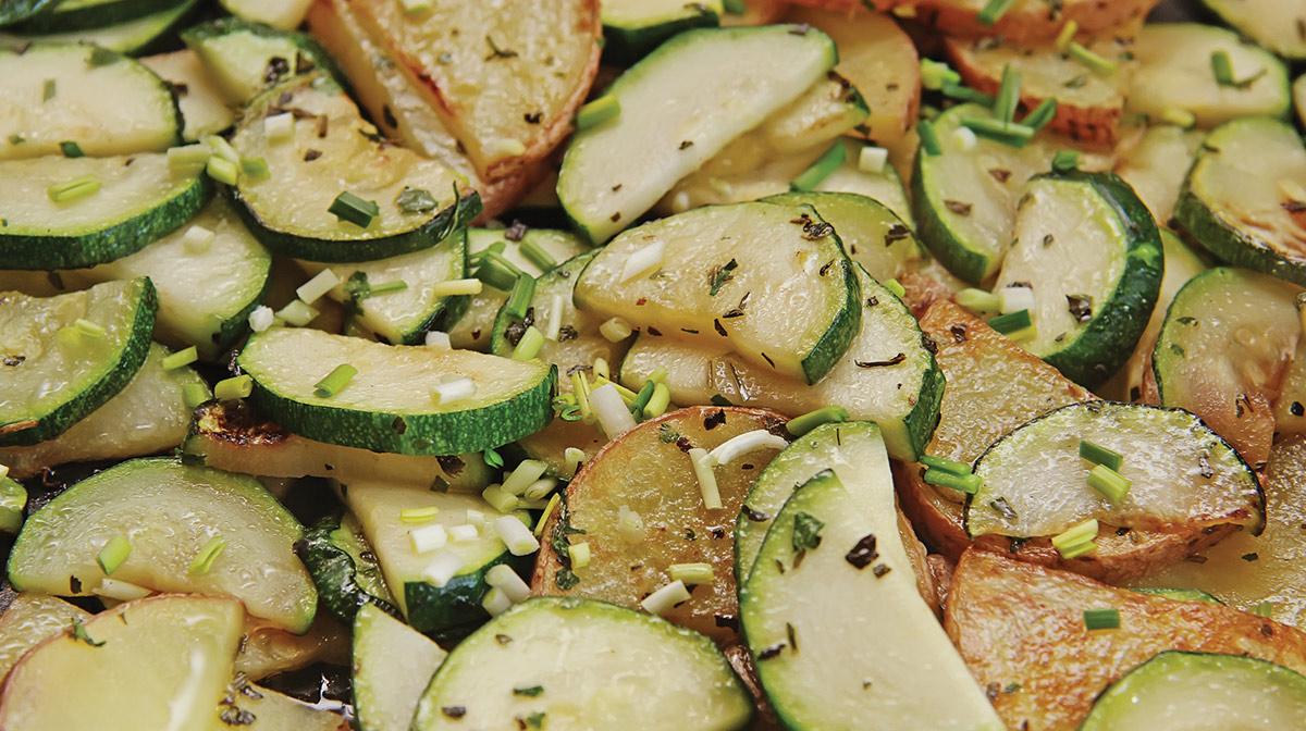 Patata y Calabacín al Vapor