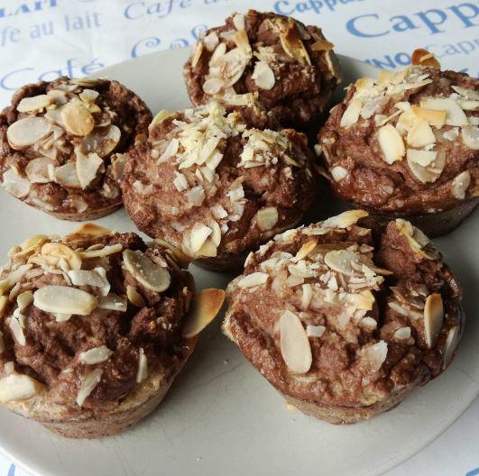 Muffins sin hidratos con los superalimentos