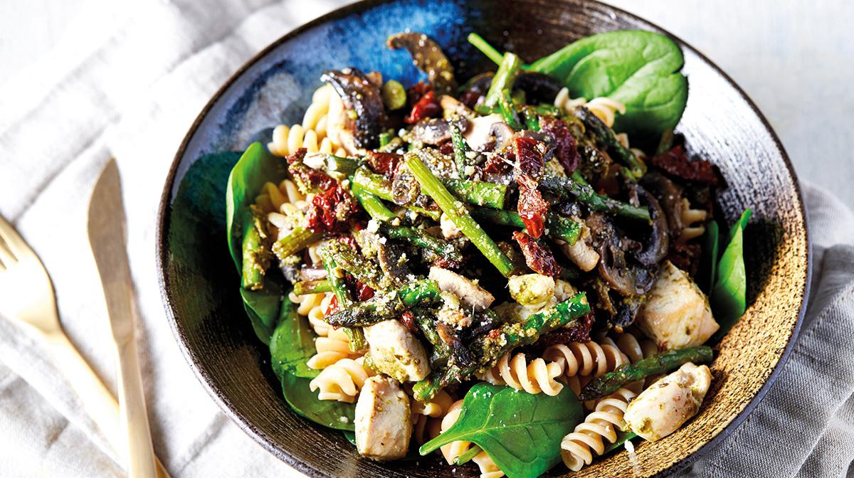 recetas saludables de pasta con verduras para disfrutar de una comida saludable