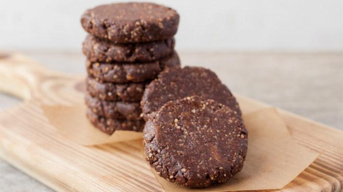 Galletas saludables de cacao y semillas de chía