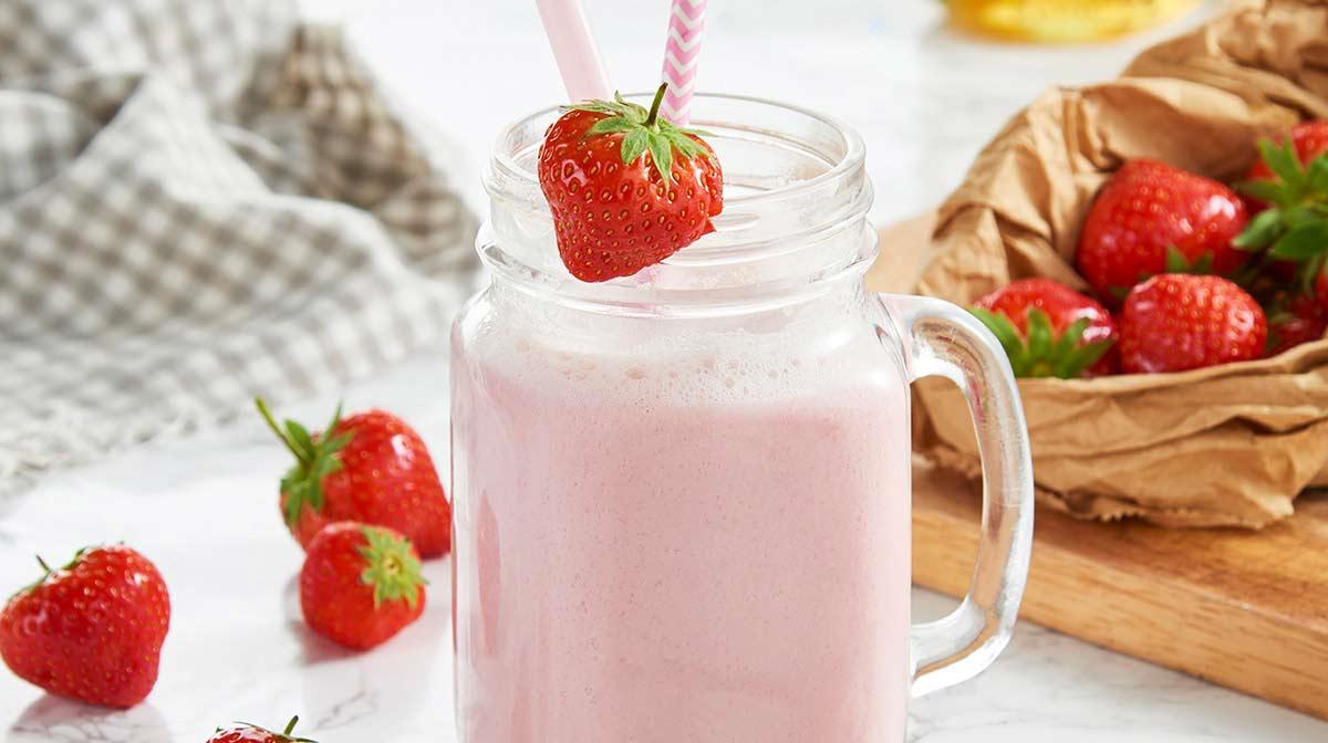Delicioso y saciante batido para adelgazar de fresa sustitutivo de comidas Exante que puede revertir la diabetes tipo 2