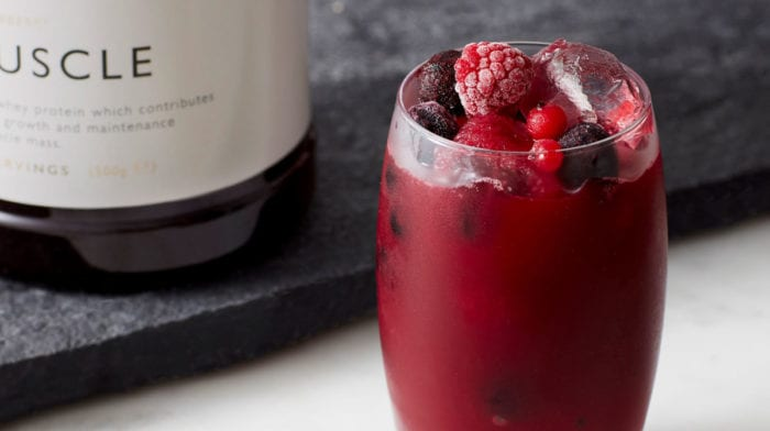 Muscle vitality smoothie   Post-workout bær smoothie