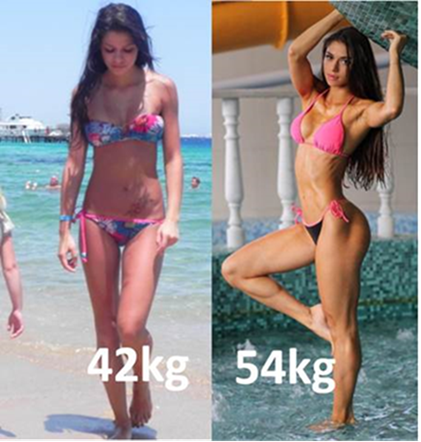 Tag på i vægt Diana Volkova Russia