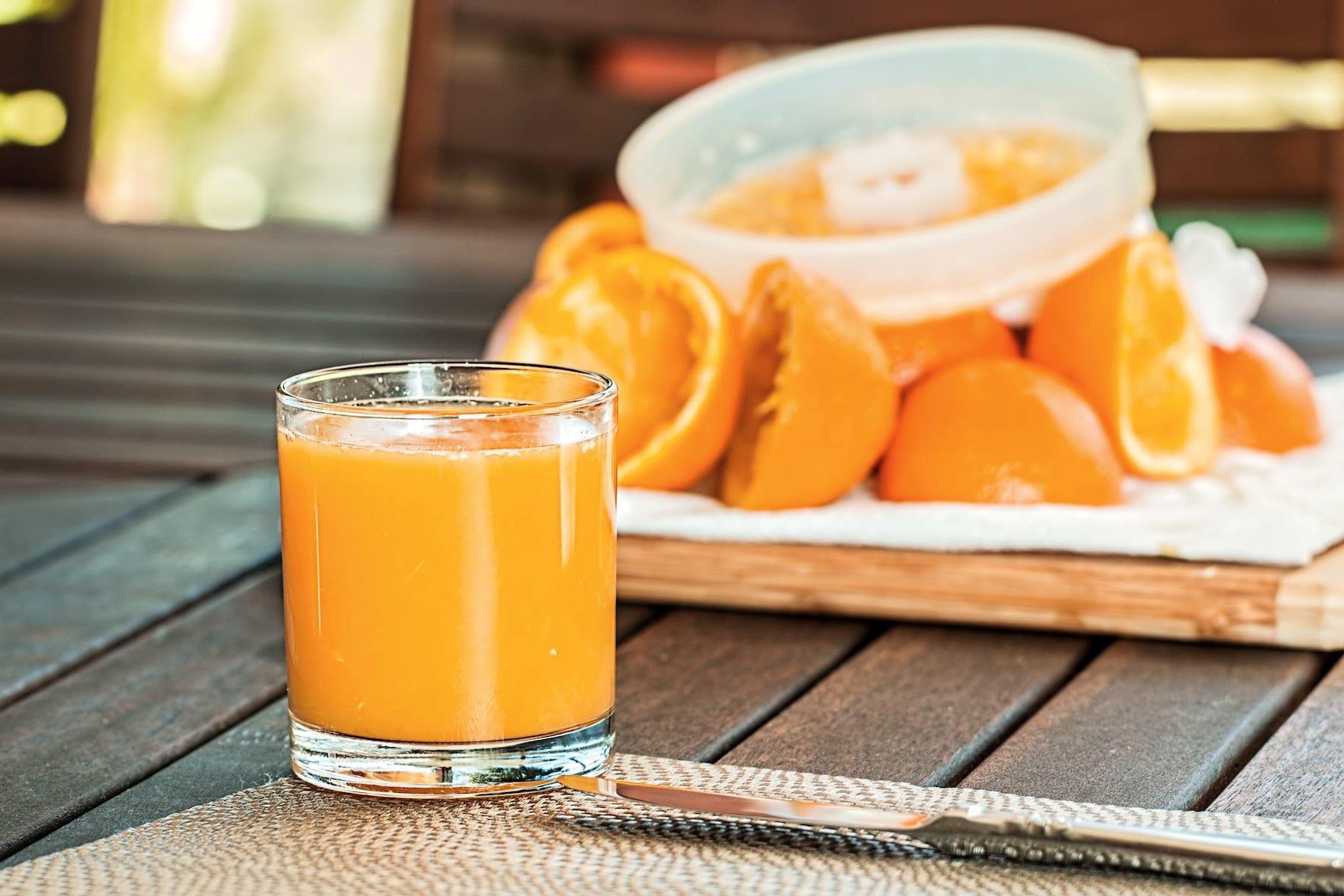 Appelsin protein shake