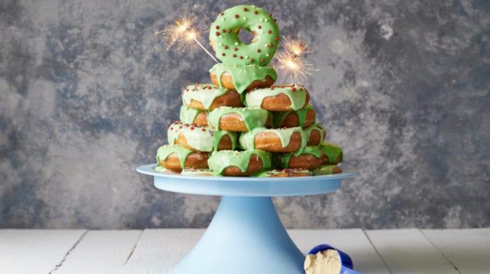 Perfekte protein donuts opskrift | Pronut med juletræs topping