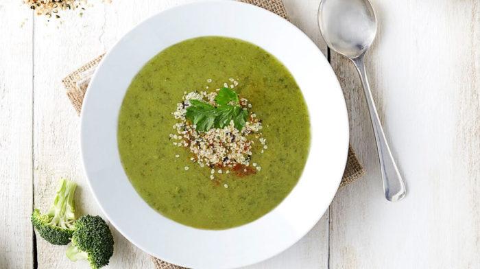 Рецепт для здорового обеда «Суп из брокколи с сыром»