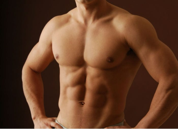 накаченная грудь