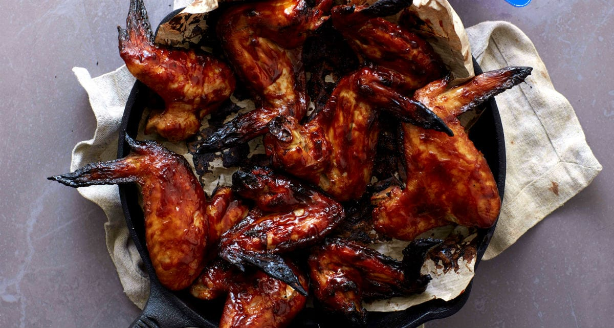 Крылышки барбекю в духовке