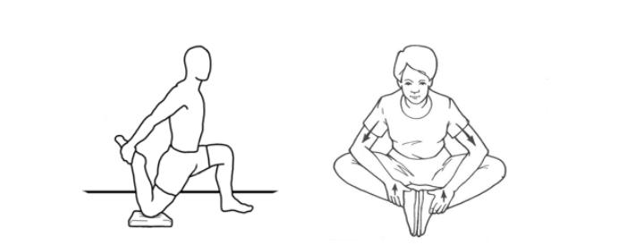 растяжка для приводящих мышц и квадрицепсов