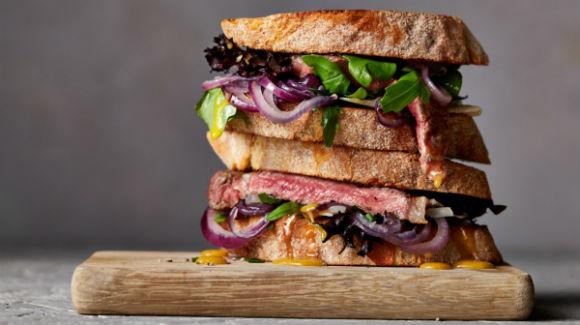Стейк-сэндвич | Белковое блюдо