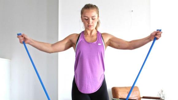 Упражнения с собственным весом и со жгутом