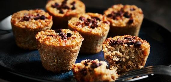 Healthy Snacks | Sweet Quinoa Mini Muffins