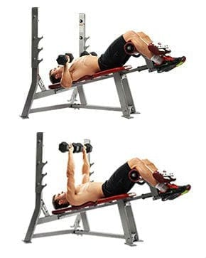 decline bench press dumbbells