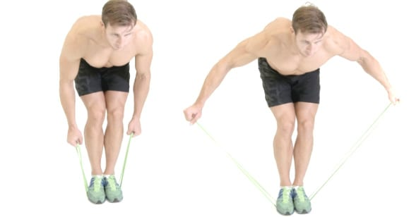 resistance band back fly
