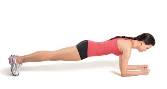 prone plank position