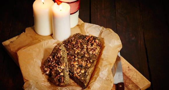 Nut Roast with Truffle Oil Sauce | Vegetarian Christmas Dinner