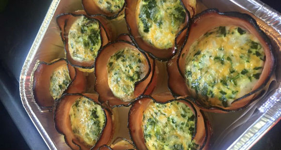 Grab and Go Breakfast | Ham and Egg Cups Recipe