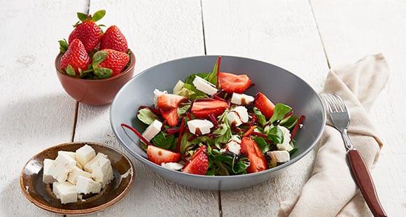 Strawberry & Feta Cheese Salad Recipe