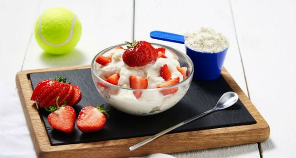 Protein Dessert | Strawberries & Cream Recipe