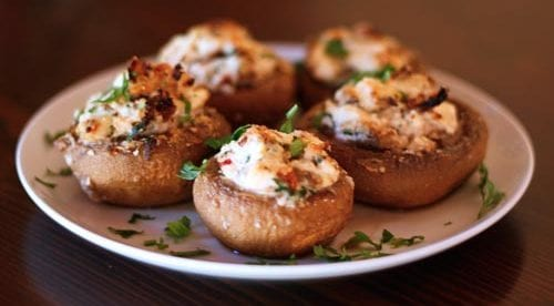 Low-Carb Egg & Cheese Stuffed Mushrooms