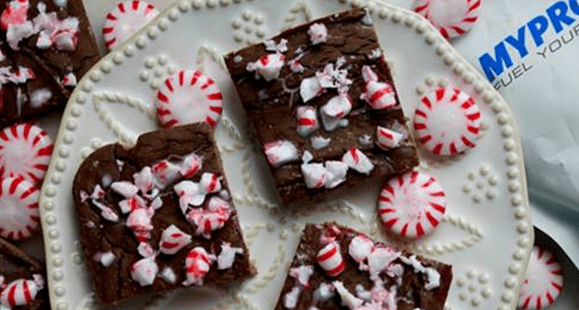 Easy Christmas Recipe | Peppermint Brownies