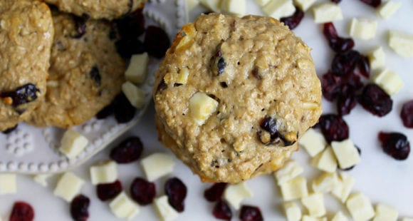 High Protein Cookies | Cranberry & White Chocolate