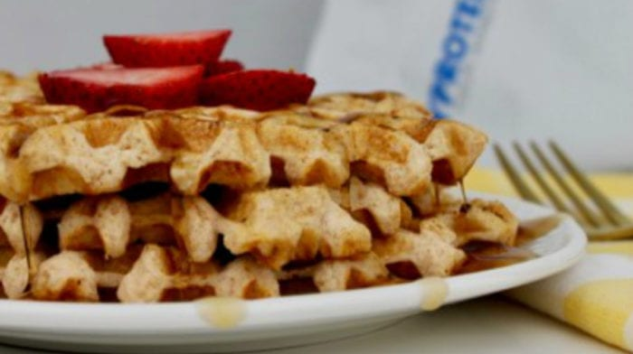 Strawberry Waffles | High Protein Treat