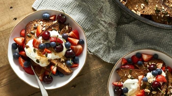 Overnight Cinnamon-Vanilla French Toast | High Protein Recipe