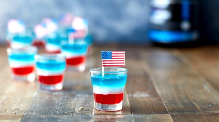 Independence Day Recipe | BCAA Flag Jello Shots