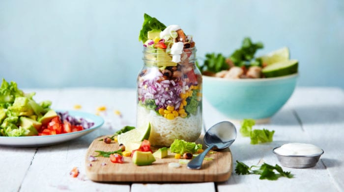 Healthy Burrito Jars | 4-Day Meal Prep Recipe
