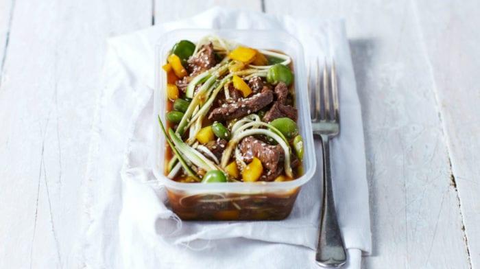 Teriyaki Beef Zoodles | Low-Carb Meal Prep