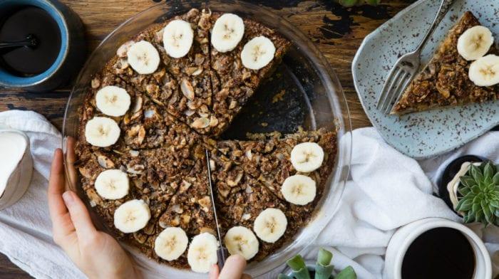 Vegan Oatmeal Recipe | Baked Banana Cinnamon Protein Oats