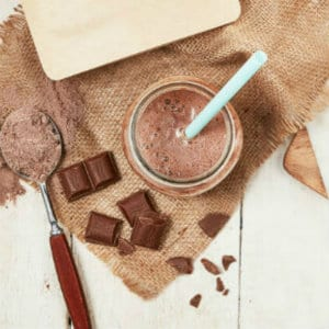 chocolate protein smoothie