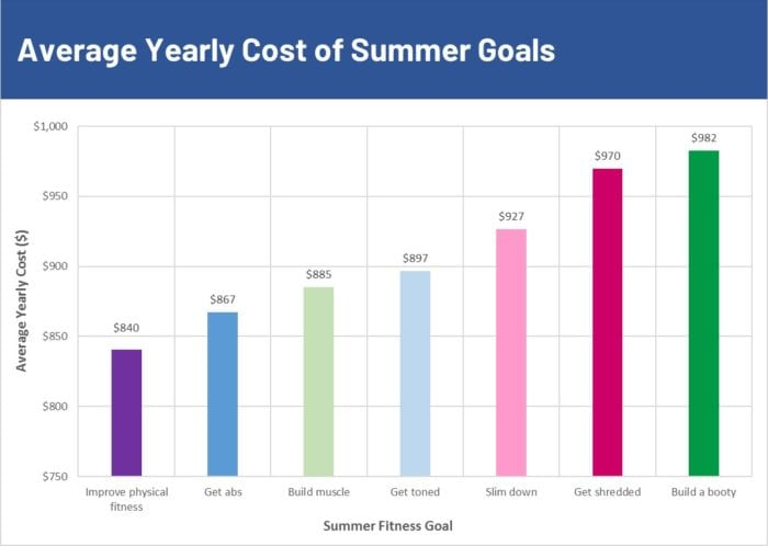Summer spends by fitness goal